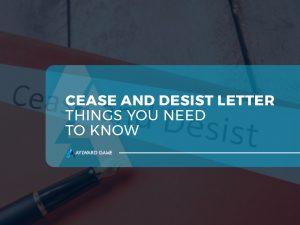 Cease & Desist Letters