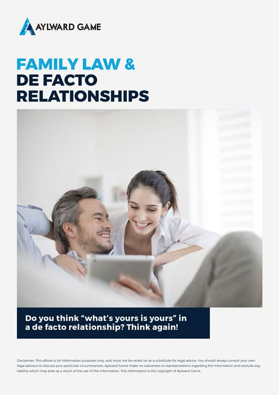 Family-Law-De-Facto-Relationships