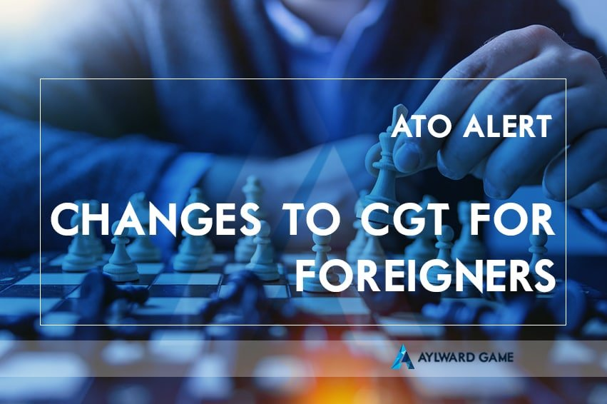 Foreigners New ATO Requirements: Changes to the special CGT rules affecting foreign residents for tax purposes selling residential property