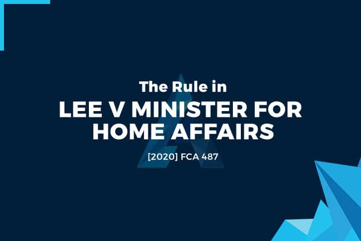 Lee v Minister for Home Affairs