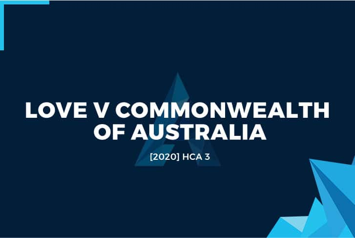 Love v Commonwealth of Australia