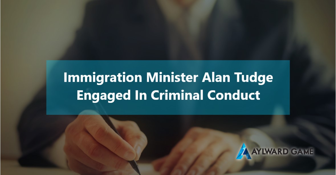 Immigration Lawyer Brisbane- Immigration Minister Alan Tudge engaged in criminal conduct