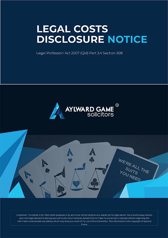 Legal Costs Disclosure Notice